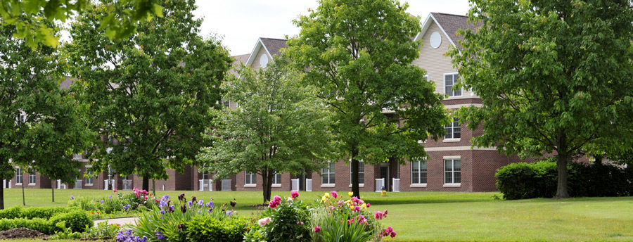 The secure buildings at Acacia Village