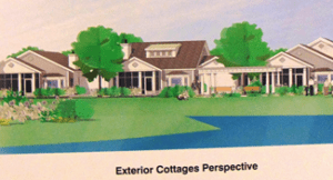 Exterior cottages perspective